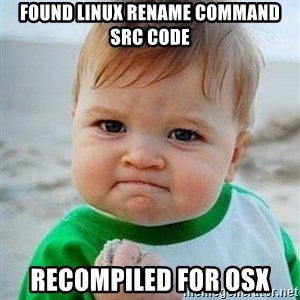 victory kid - found linux rename command src code recompiled for osx