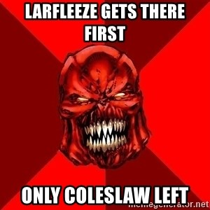 Raging Atrocitus - Larfleeze Gets there first Only Coleslaw left