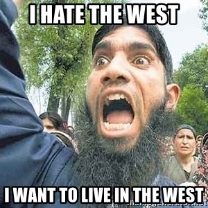 Angry Muslim Guy - i hate the west i want to live in the west