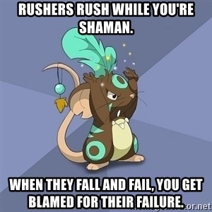 Transformice Shaman :D - Rushers rush while you're shaman. when they fall and fail, you get blamed for their failure.