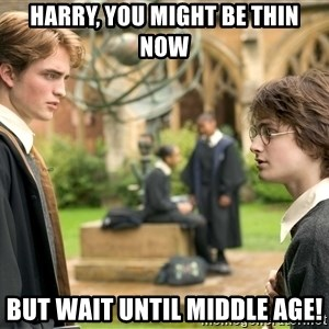 Harry Potter  - Harry, you might be thin now but wait until middle age!