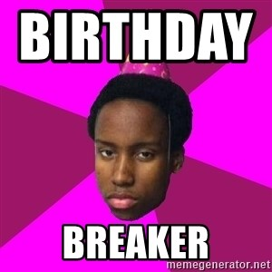 Happy Birthday Black Kid - Birthday                 breaker