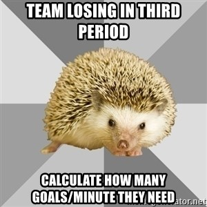 Hockey Hedgehog - Team losing in third period calculate how many goals/minute they need