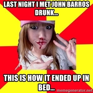 sick orientalist - Last night i met john barros drunk... this is how it ended up in bed...