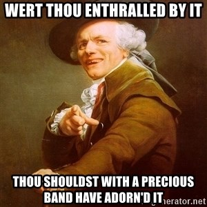 Joseph Ducreux - Wert thou enthralled by it thou shouldst with a precious band have adorn'd it