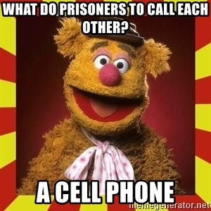 Fozzie Wocka Wocka - what do prisoners to call each other? a cell phone