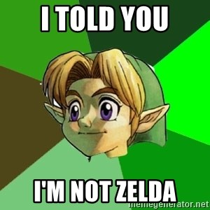 Link - I told you I'm not zelda