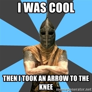 Unfortunate Guard - i was cool then i took an arrow to the knee