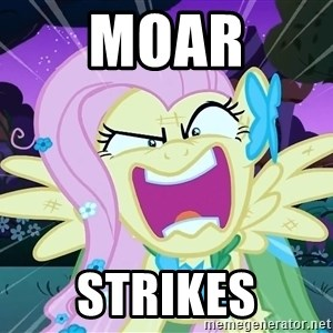 angry-fluttershy - MOAR STRIKES