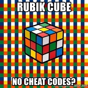 Typical_cuber - Rubik cube no cheat codes?