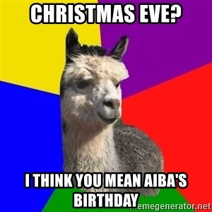 Arashian Alpaca - Christmas eve? I think you mean Aiba's birthday