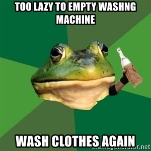 Foul Bachelor Frog (Alcoholic Anon) - TOo lazy to empty washng machine Wash clothes again