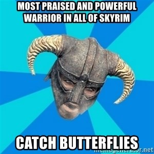 skyrim stan - most praised and powerful warrior in all of skyrim catch butterflies
