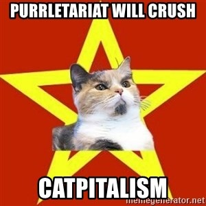 Lenin Cat Red - PurrLetariat will crush CatPitalism