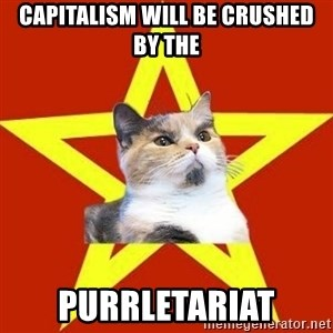 Lenin Cat Red - capitalism will be crushed by the purrletariat