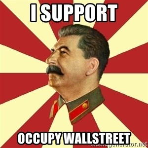 STALINVK - i support occupy wallstreet
