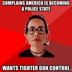 Liberal Douche Garofalo - complains america is becoming a police state wants tighter gun control