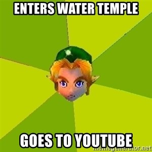 Quest Advice Link - enters water temple goes to youtube