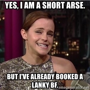 Emma Watson Trollface - yes, i am a short arse. but i've already booked a lanky BF.