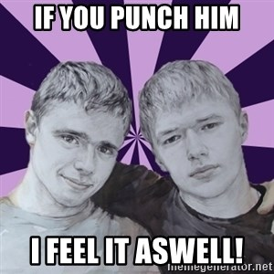 the best brothers - iF YOU PUNCH HIM I FEEL IT ASWELL!