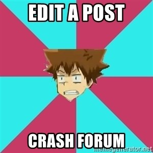 Fail Boss Tsuna - edit a post crash forum