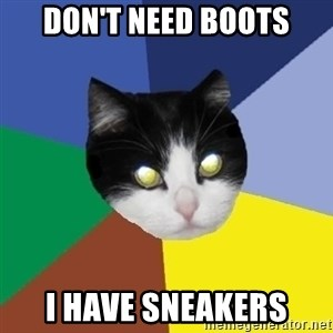 Winnipeg Cat - don't need boots i have sneakers