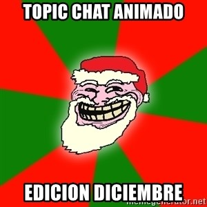 Santa Claus Troll Face - topic chat animado edicion diciembre