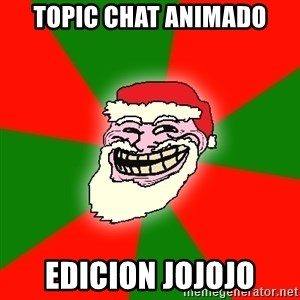 Santa Claus Troll Face - topic chat animado edicion jojojo