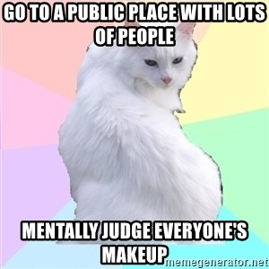 Beauty Addict Kitty - GO TO A PUBLIC PLACE WITH LOTS OF PEOPLE MENTALLY JUDGE EVERYONE'S MAKEUP