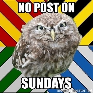 JEALOUS POTTEROMAN - No post on Sundays