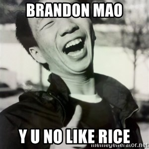 Troll Asian - Brandon Mao y u no like rice