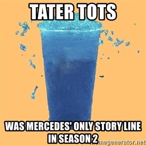 Gleek - TATER TOTS WAS MERCEDES' ONLY STORY LINE IN SEASON 2