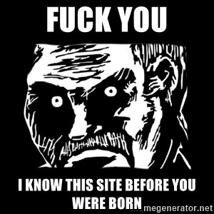 Dark stare - fuck you i KNOW this site before you were born