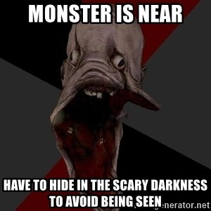 Amnesiaralph - Monster is near have to hide in the scary darkness to avoid being seen