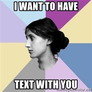 Maiden Philologist - I want to have text with you
