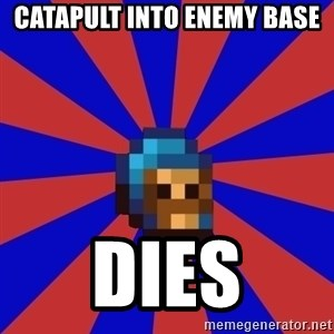 Kag knight - catapult into enemy base dies