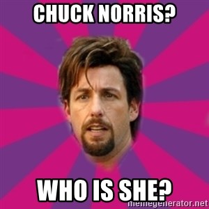 zohan - CHUCK NORRIS? WHO IS SHE?