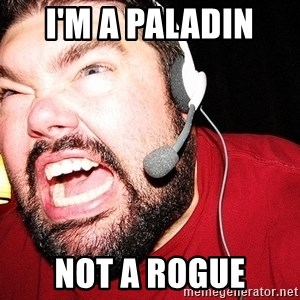 Angry Gamer - I'M A PALADIN  NOT A ROGUE