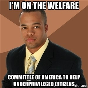 Successful Black Man - i'm on the welfare committee of america to help underprivileged citizens