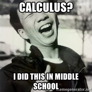 Troll Asian - calculus? i did this in middle school