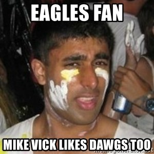 Krazy Kapil - eagles fan mike vick likes dawgs too