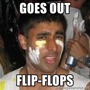 Krazy Kapil - goes out flip-flops