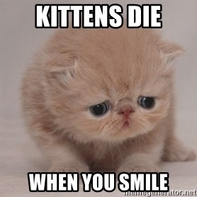 Super Sad Cat - KiTTENS DIE WHEN YOU SMILE