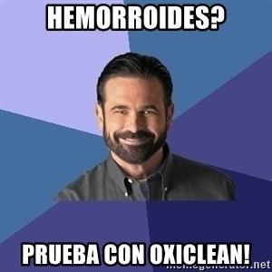 Billy Mays - hemorroides? prueba con oxiclean!