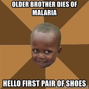 Homeless Haitian Child - Older brother dies of malaria Hello first pair of shoes