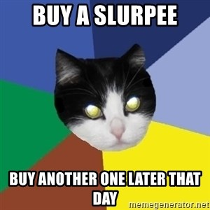 Winnipeg Cat - Buy a slurpee buy another one later that day