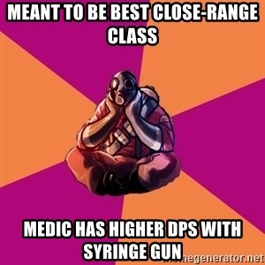 Sad Pyro - meant to be best close-range class medic has higher dps with syringe gun