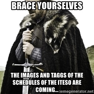 Ned Game Of Thrones - Brace yourselves  the images and taggs of the schedules of the iteso are coming...