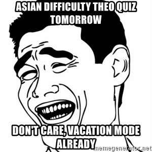 Yao Ming - asian difficulty theo quiz tomorrow don't care, vacation mode already