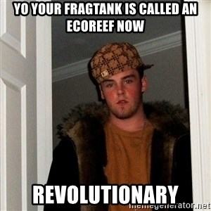 Scumbag Steve - YO YOUR FRAGTANK IS CALLED AN ECOREEF NOW REVOLUTIONARY